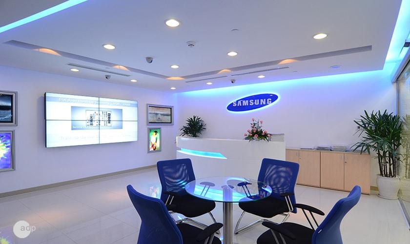 thiết kế văn phòng làm việc đẹp của Samsung