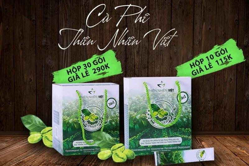 Cà phê xanh thiên nhiên việt là sản phẩm rất quen thuộc với chị em phụ nữ