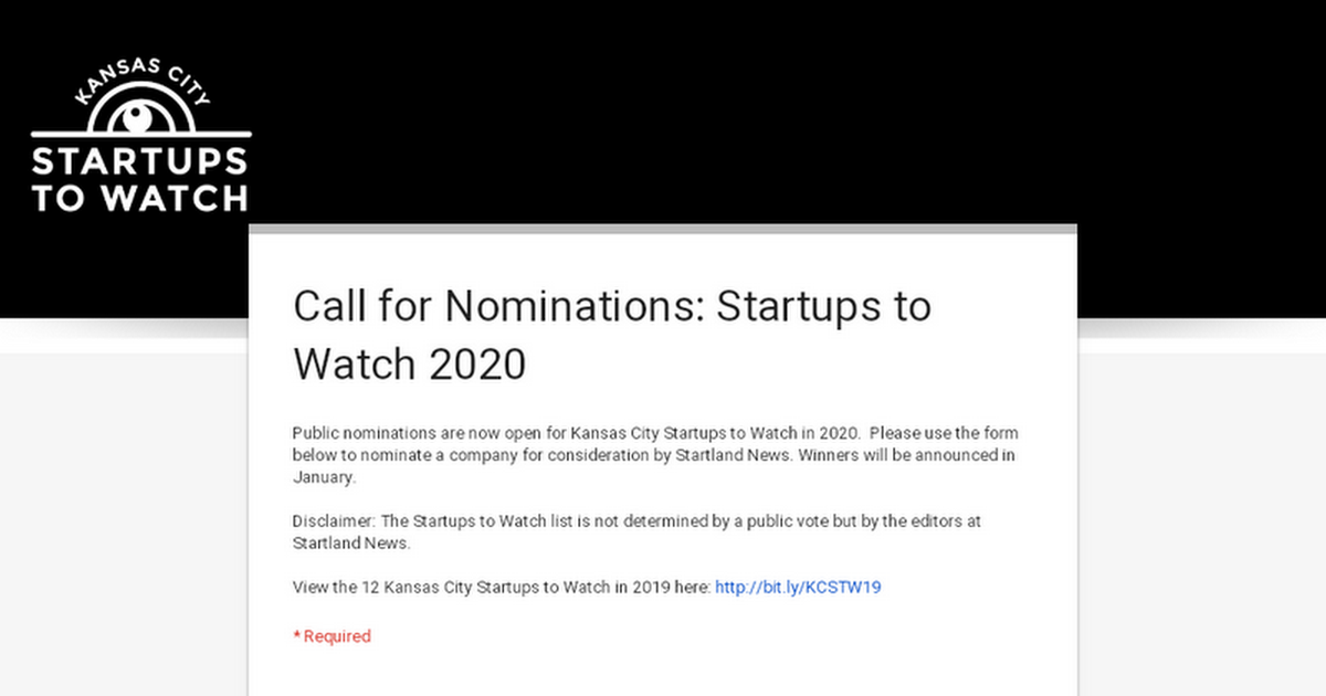 Do Not Call List 2020.Call For Nominations Startups To Watch 2020