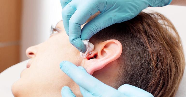 how to clean ear piercings