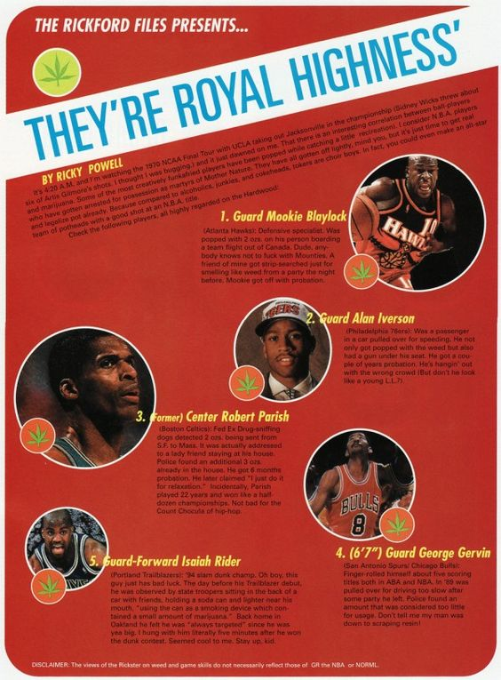 The NBA All Weed Team