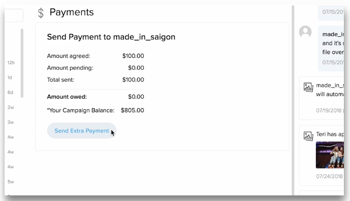 AspireIQ payments screenshot