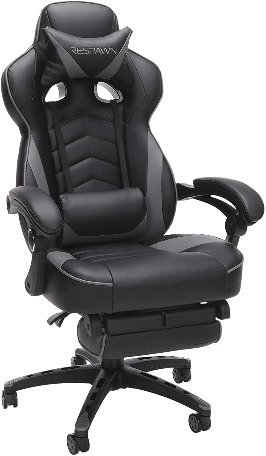 Gaming chair with a footrest