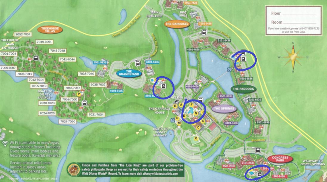 Disney's Saratoga Springs Laundry Locations