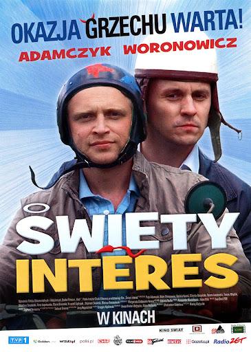 Przód ulotki filmu 'Święty Interes'