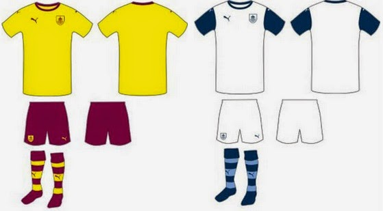 fans have choice to chose one of the away shirts for Burnley fc