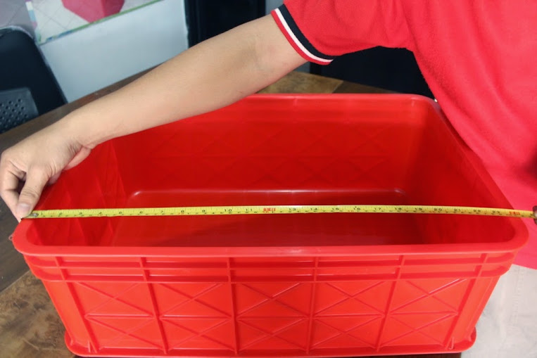 JUAL KERANJANG KONTAINER PLASTIK POLOS TIPE 2292 P | Green Leaf | www.rajarakminimarket.com | RAJA RAK INDONESIA | JAKARTA
