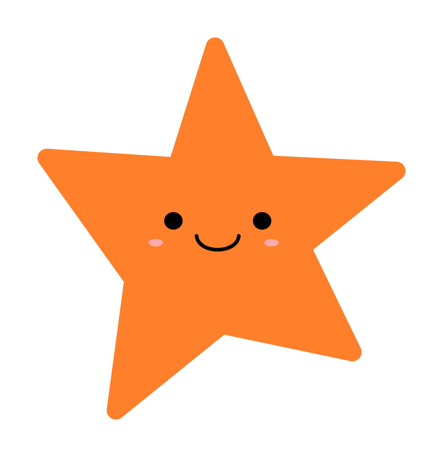 Orange Star vector clipart - Free Public Domain Stock Photo - CC0 ...