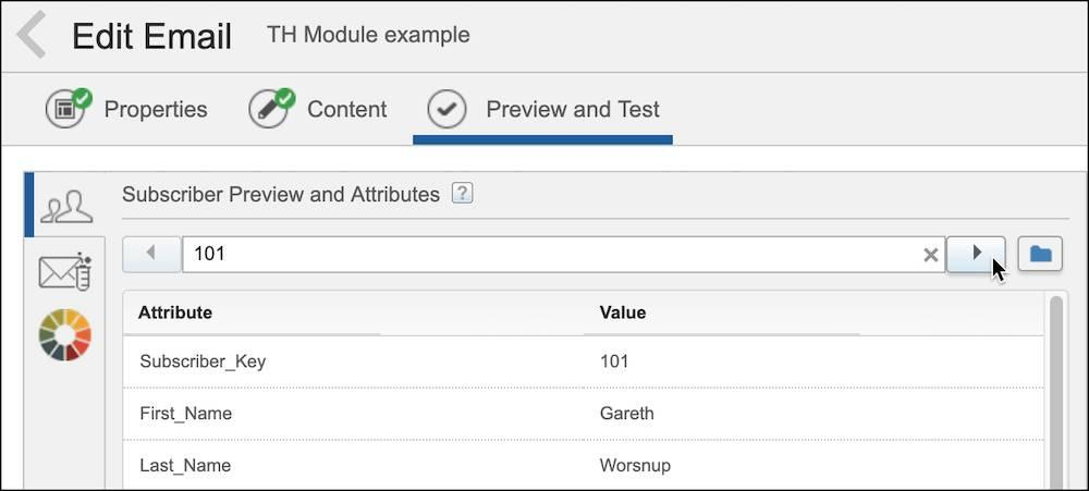 Preview and Test tab in Content Builder.