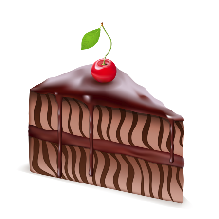 Chocolate cake with Cherry illustration