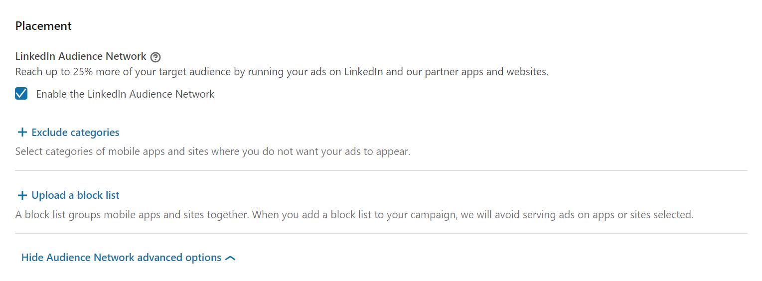 Placement d'annonce sur LinkedIn