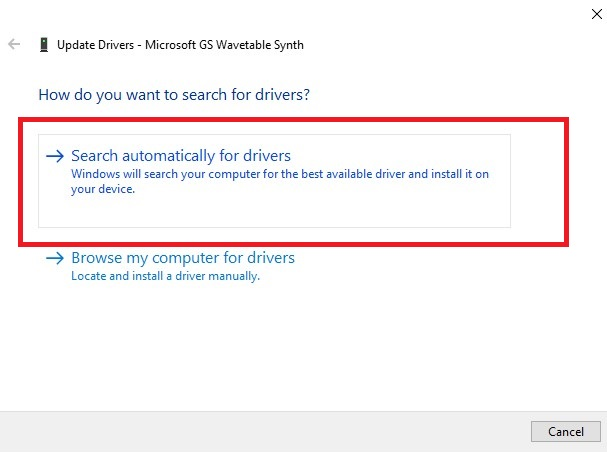 If the notification The best drivers for your computer are already installed appears, go to Windows Update and search for new drivers.