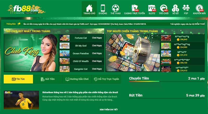 FB88 - Cổng game lẫy lừng đáng tin với ứng dụng game công nghệ hiện đại