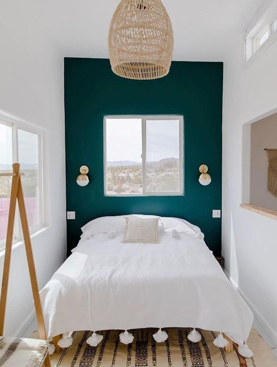Teal Bedroom Accent Wall