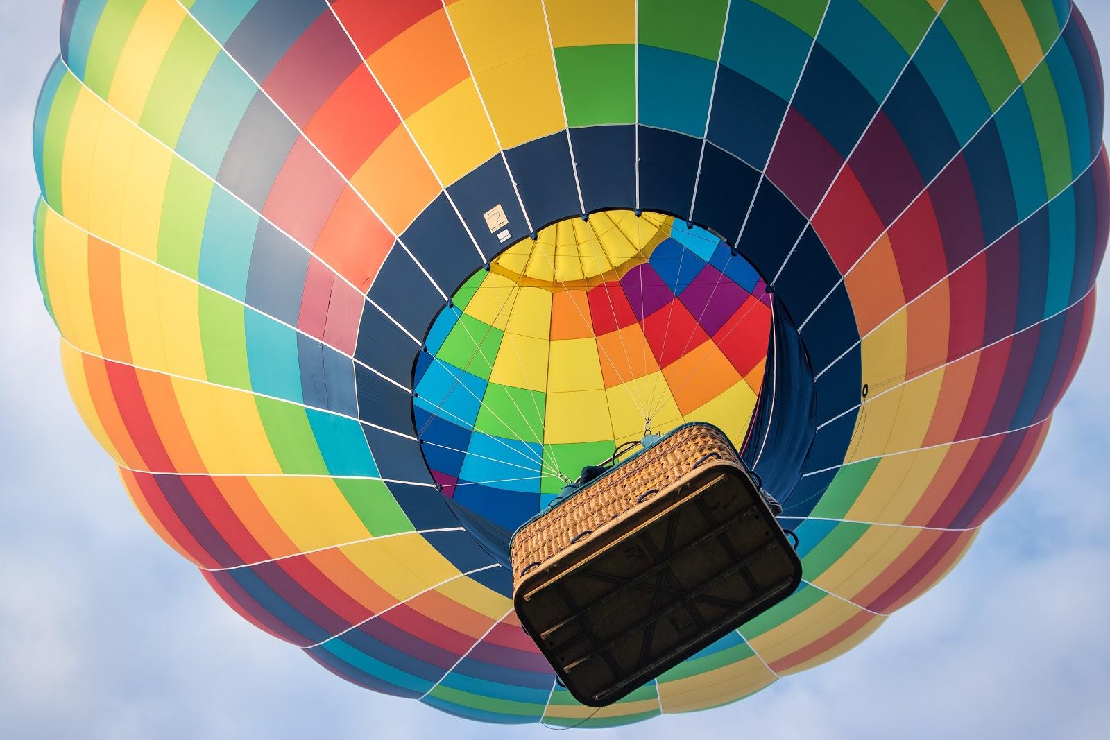 Hot air balloon, balloon basket, ascension day,
