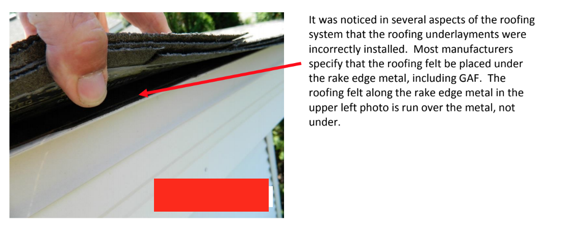 improper underlayment installation leading to construction defect