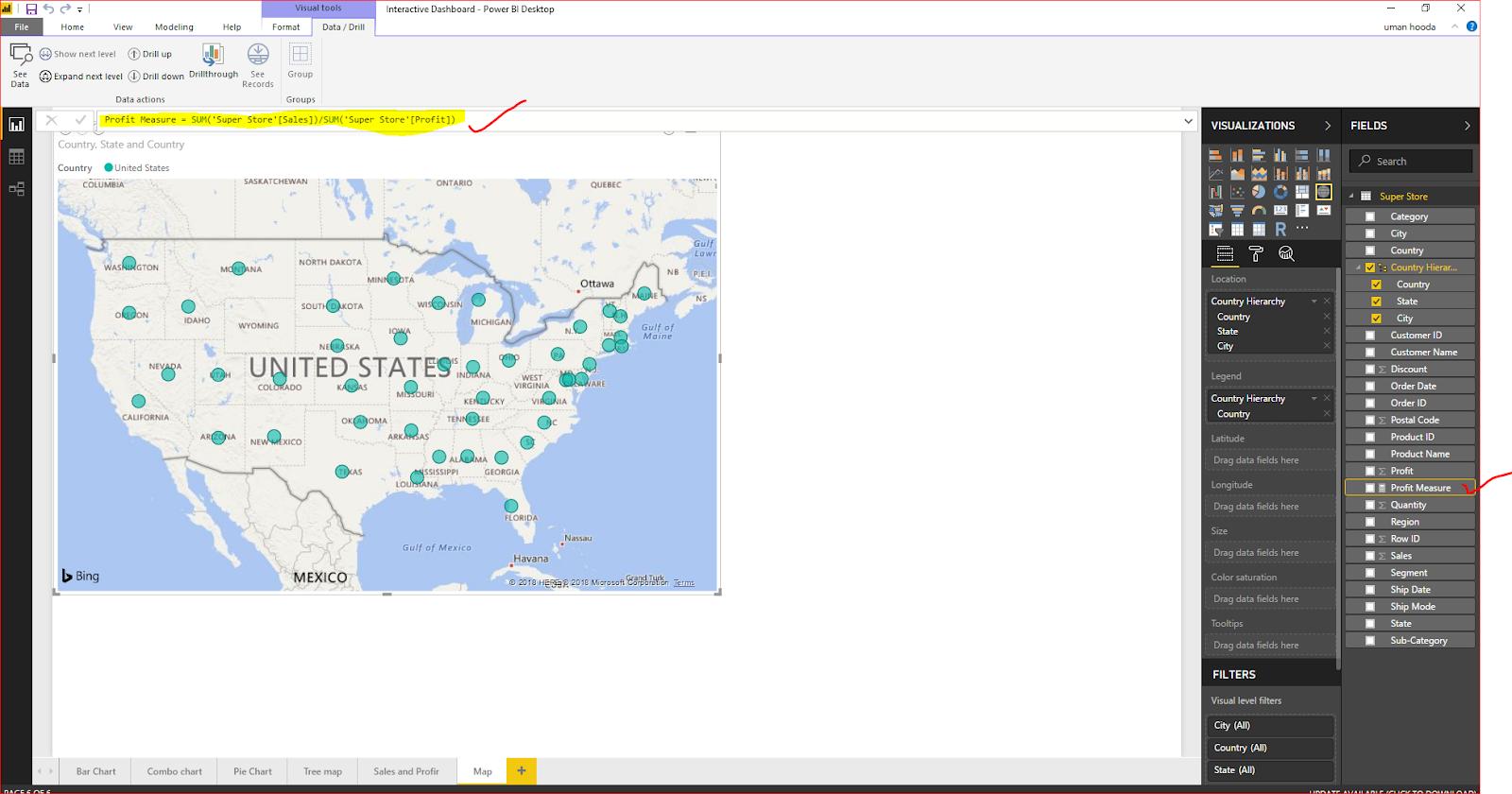 Interactive Dashboard In Microsoft Power BI 53
