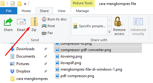Cara mengkompres file di Windows 2