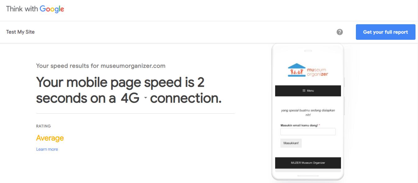 contoh google test my site
