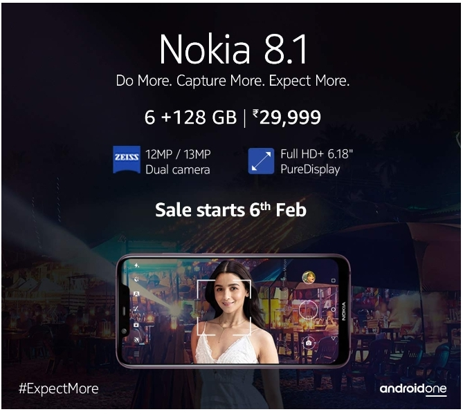 nokia 8.1 price in india