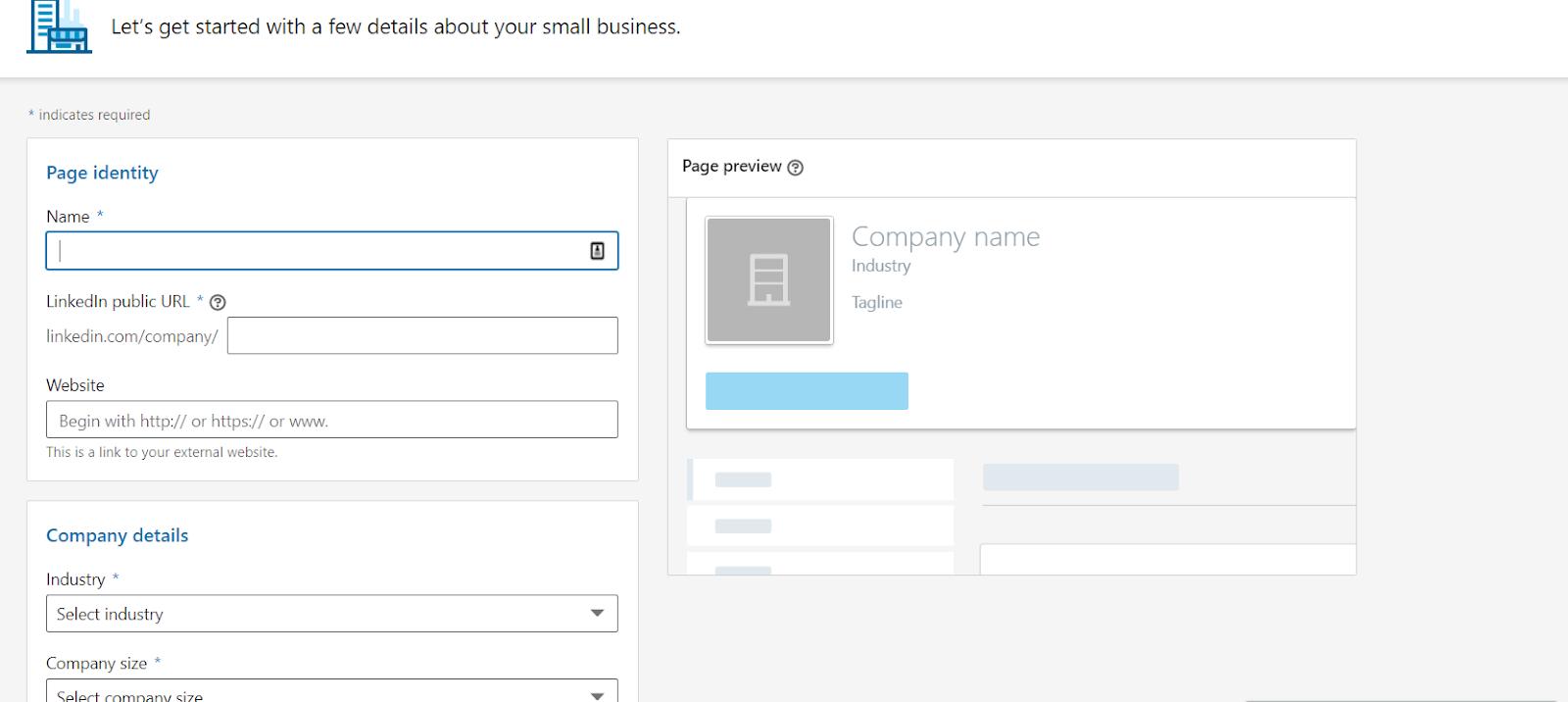 A LinkedIn Business Profile lets you create a company presence.