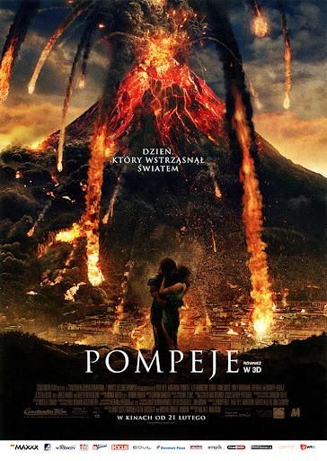 Przód ulotki filmu 'Pompeje'