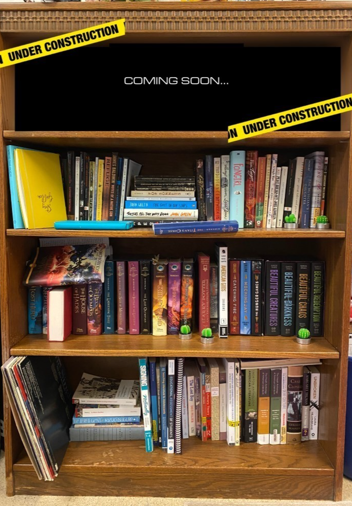 My own bookshelf where I have reserved a space for my future writing.