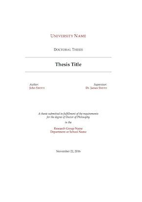 bachelor dissertation