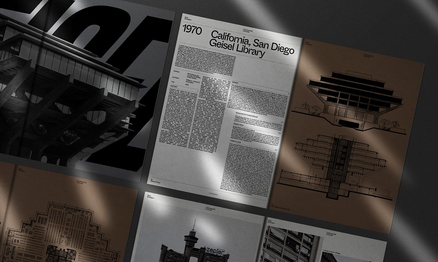 Editorial Design : New Brutalism Controversial Concrete 9