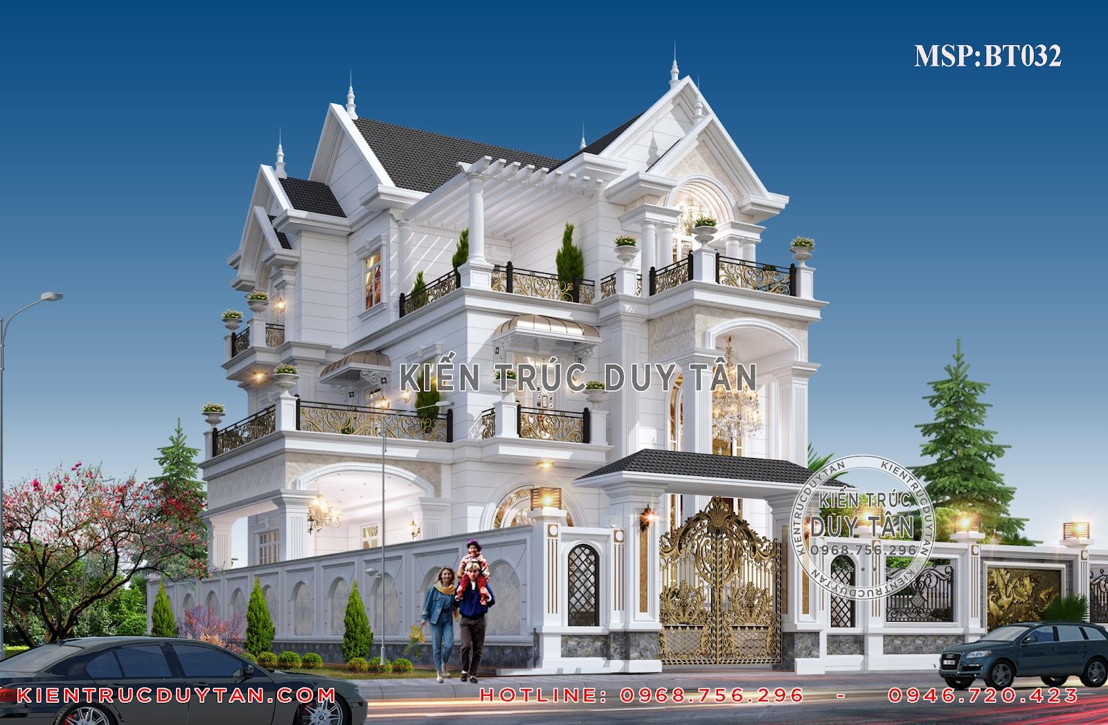 Biệt thự mái Thái - mẫu biệt thự 3 tầng đẹp nhất 2020