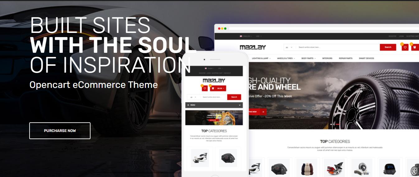 Mazlay - Accessories car opencart theme
