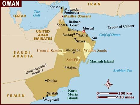 Image result for oman map