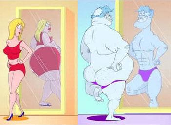 Kobieta i mężczyzna przed lustrem śmiesze obrazki i memy