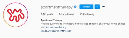 instagram handle to match branding