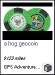 a frog geocoin