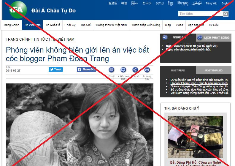 Blogger Phạm Đoan Trang