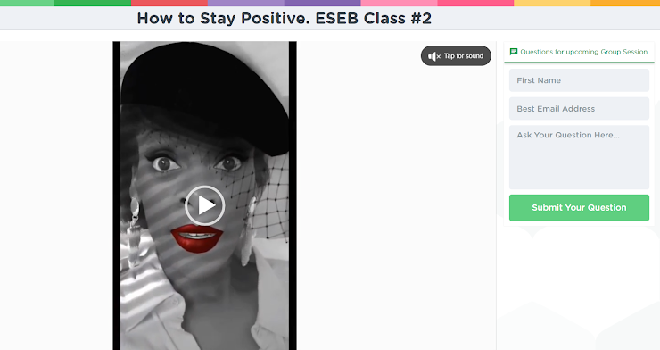 This screenshot pictured here was captured from the intro of class/lesson #2