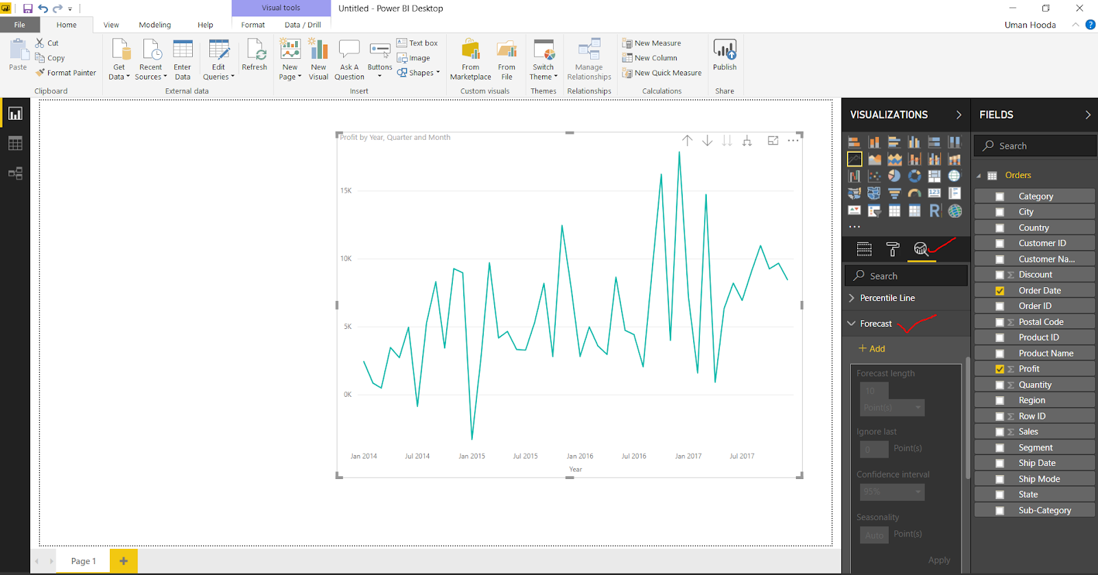 Forecast in Power BI 30