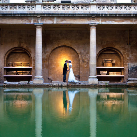 Where: BathUSP: Say your vows next to the torch-lit waters of the world-famous ancient Roman Baths and Pump Room, which date back more than 2,000 years. Bonus points: Sunrise and sunset wedding times are available.Price: £775-£3,900  Visit romanbaths.co.uk Picture courtesy of Lee Niel