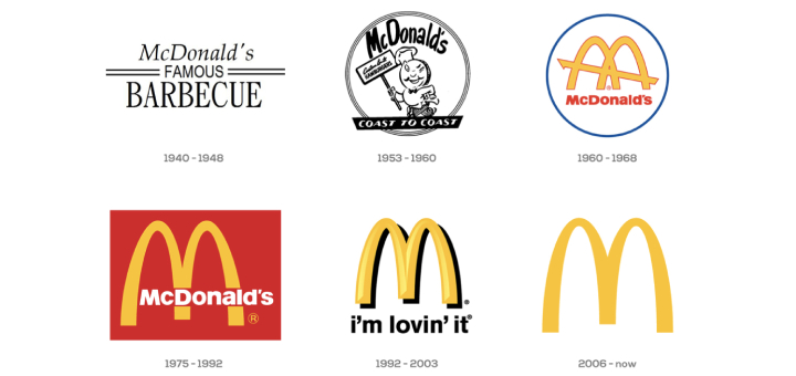 macdonalds logos changes during the time