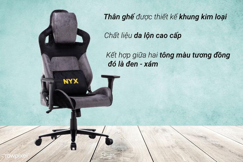 Ghế E-dra NYX EGC222 (Đen Xám)   Chất liệu cao cấp