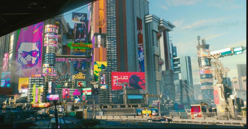 cyberpunk city