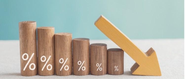 低金利を表すオブジェ