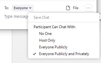 meeting settings