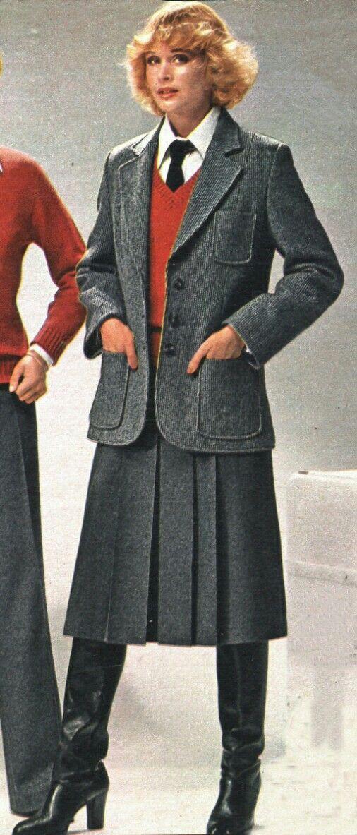 Late 70s-ish | Retro fashion, Business womens fashion professional, Retro  skirt
