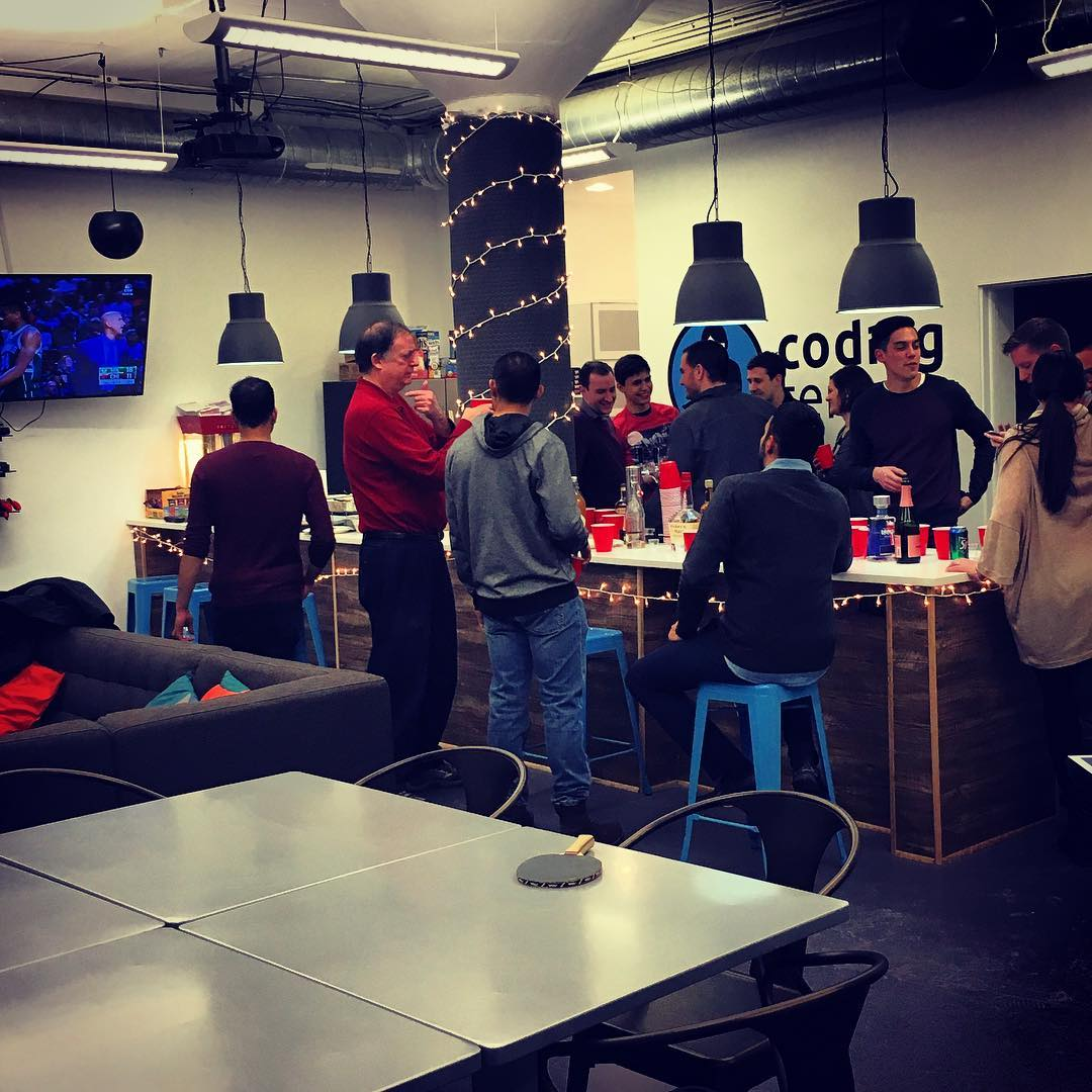 Coding Temple students having a good time