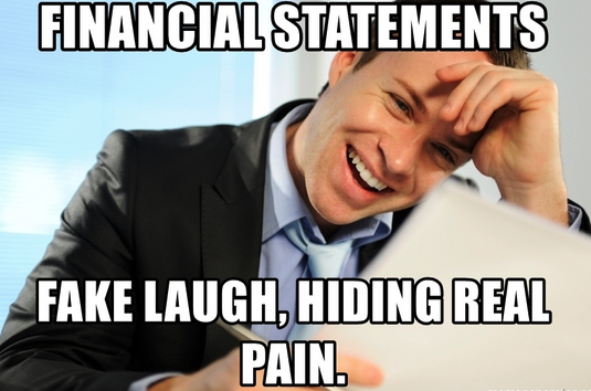 Financial statements meme. Interpreting financial statements is one of many accounting skills.