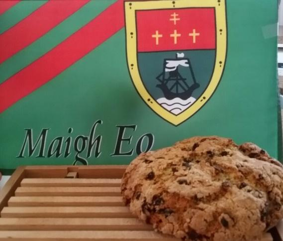 Irish soda bread and Mayo flag
