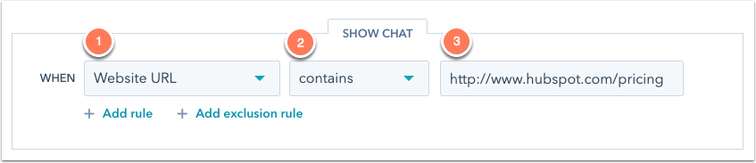 Setting up chatflow rules