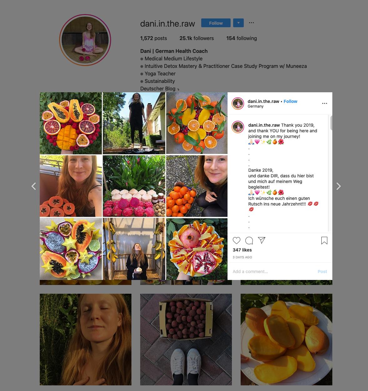 Dani | German Health Coach | Instagram Profile